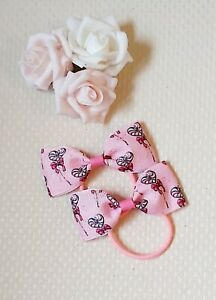 Valentine's Hair Bow Bobbles Heart pink x2