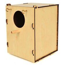 Bird Nest Box Breeding Cage Aviary Finch Canary Parakeet Wood Fiber Board