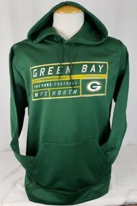 Brand New Majestic NFL Green Bay Packers Pullover Thermabase Hoodie Sweatshirt