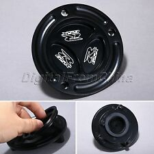 Black Gas Cap Fuel Tank Cover For Suzuki GSXR600 GSXR750 GSXR1000 03-12 08 10 11