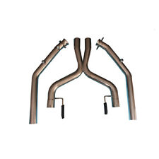 """Exhaust X-Pipe Piping For 05-10 Mustang 4.6L V8 SS 2.5""""OD High Flow Race Catless"""