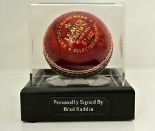 Brad Haddin Signed Autograph Cricket Ball Display Case Australia Ashes & COA