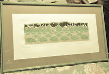"""""""How the Cows Ate the Cabbage"""" Artist Proof #8-Hand Pulled & Colored-T.Moss 1986"""