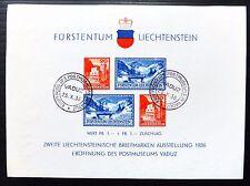 Liechtenstein 1936 FRANCOBOLLO ESPOSIZIONE BELLE MS153/NB2056 USATA