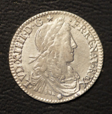 LOUIS XIV  1/12è écu argent 1662 D Lyon