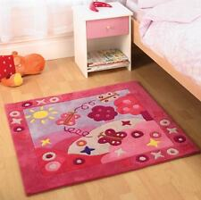 Summertime Pink Kids / Childrens Square Play Rug 90x90cm
