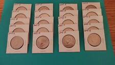 2007 & 2008 P & D Kennedy 50 cent  5 each/20 coins