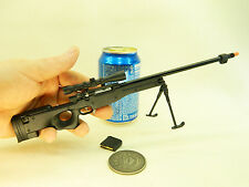 Metal Gun Scale Model - Scale 1:4 AWP Sniper rifle miniature gun display U