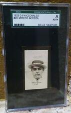 1923-24 Cigarros Nacionales Cuban Baseball HOF #45 Merito Acosta SGC A