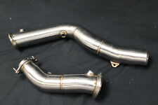 "PLM BMW 3"" Turbo Downpipe M3 M4 F80 F82 F83 S55 2014+ Test Pipe Exhaust Catless"