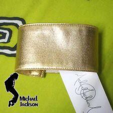 Michael Jackson Armbinde / Armband golden Farbe 6cm x 38cm für MJ Fans 061