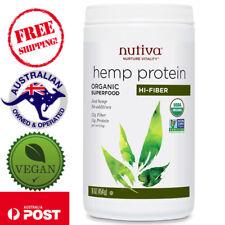 Nutiva, Organic Superfood, Hemp Protein, Hi-Fiber, 16 oz (454 g) - Vegan
