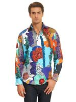 Robert Graham Wildflowers L/S Floral Print Sport Shirt, Tall Fit, Multicolored