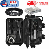 11 in 1 Camping Survival Kit Outdoor Military Tactical Gear Emergency EDC Tools