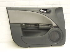 Seat Leon 1P Front NS Left Door Card Black With Grey Cloth Insert