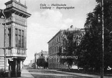 Photo. 1921. Oulu, Finland. Regeringsgatan Street