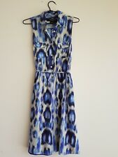 Guess by Marciano, Women's Shirt Dress, Blue, Animal Print, Midi, lined