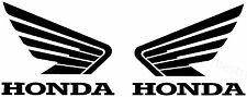 2x HONDA Wings  Aufkleber Window Bumper Laptop Sticker Vinil Decal 075