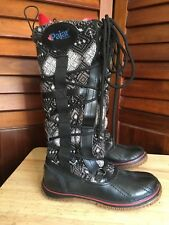PAJAR Tall Leather / Textile Winter Boots Lace up Size US 6.5/EUR 37