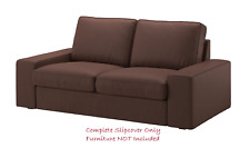 KIVIK 2-Seater Sofa COVER Only in Borred Dark Brown: 203.429.60 | IKEA Brand New