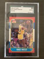 1986 Fleer James Worthy #131 RC ROOKIE Lakers HOF SGC 8 (Not PSA)