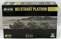 Bolt Action 402013001 M3 Stuart Platoon (Light Tanks) Warlord Games US British