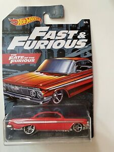HOT WHEELS Fast And Furious 1/64 Toretto Chevrolet Impala 1961