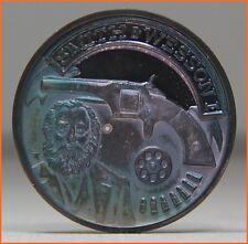 ".999 Silver ""SMITH & WESSON PISTOL REVOLVER"" 4000 MINTAGE  Art Round/Bar"