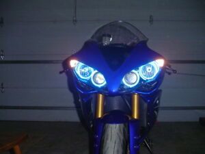 Yamaha R1 YZF R6S 1998-2019 CCFL Halo Angel Demon Eyes Glass Kit Light Headlight