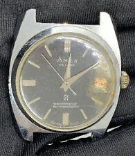 Amila Du Luxe Vintage Main Manuel 34,5 mm Swiss Date Pas Fonctionne pour Pièces