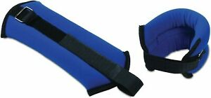 CAP Fitness Ankle Wrist Weights 2 LB Pair Blue Hook and Loop Closure Toning