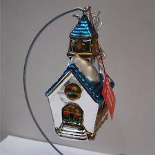 DEPARTMENT 56 MERCURY GLASS HANDPAINTED STEEPLED CHURCH ORNAMENT NIB 7708-9