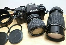 Sigma SA-1 35mm SLR Camera Auto/Manual **TESTED** + Original Accessories