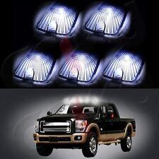 5x Roof Cab Marker Light Smoke Cover+T10 White 5730 LED Bulb for GMC K1500 K2500