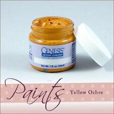 Genesis Paint Yellow Ochre 1 fl oz For Reborn Artist ~ Reborn Doll Supplies
