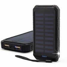IMPERMEABILE 300000 mAh SOLAR POWER BANK 2USB Battery Portable Charger Samsung REGNO UNITO