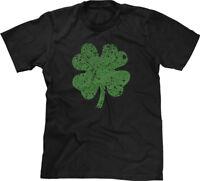 4 Leaf Clover Green St Patricks Day Proud Irish Pride Lucky Ireland Mens Tee