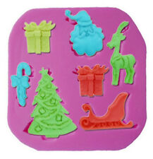 Christmas Things 7 cavities Silicone Mold - Candy, Fondant, Crafts