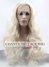 Long Wavy Blonde Synthetic Lace Front Wigs For White Women Fashion Synthetic Wig