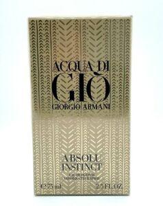 Giorgio Armani Men Acqua di Gio Absolu Instinct Eau de Parfum -2.5 oz - BNIB