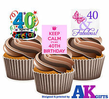 edible 40th birthday cake toppers eBay