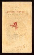 COLL., CATALOGUE DES AQUARELLES ORIGINALES COLL. GUILLAUME  1894