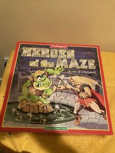 VINTAGE 1991 HEROES OF THE MAZE BOARD GAME WADDINGTONS RARE GAME. NEW