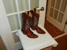 Justin L4331 Ladies Fashion Boot w/ Saddle Torino Leather Narrow Snip Toe sz 8 B