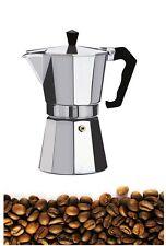 Stylish 3 Cup Espresso  Coffe Maker Continental Stove Top Chrome Jug 175ml New