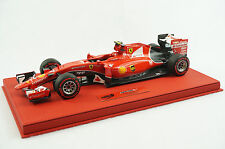 1/18 BBR FERRARI SF15-T G.P MALAYSIA RAIKKONEN DELUXE RED LEATHER BASE LE 10 MR