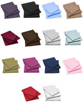 Percale Cotton Soft Non-Iron Fitted Sheet - Single / Double / King, All Colours