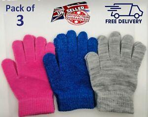 KIDS Magic Gloves thermal Winter Warm Girls Boys Stretch Unisex