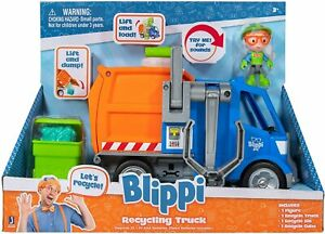 Blippi Recycle Truck with Toy Figure Kids Action Playset Birthday Gift *New*