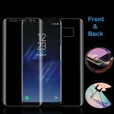 For Samsung Galaxy S8 CLEAR Curved 3D Full Glue Screen Protector Front & Back